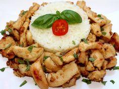Mézes-mustáros csirkemell recept My Recipes, Cooking Recipes, Kung Pao Chicken, Hummus, Risotto, Potato Salad, Turkey, Yummy Food, Homemade