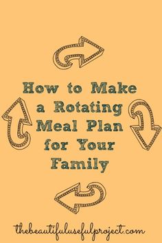 Create a Rotating Meal Plan System for Your Family