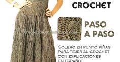 Tutorial de vestido solero con falda amplia tejido con ganchillo
