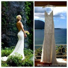 Choose  Dreamlike Spaghetti Straps 2015 Lace Wedding Dresses Simple and Elegant Backless Mermaid Bridal Gowns Beach Wedding Dresses by Katie May on DHgate.com recommended by wedding_present. Including sheath wedding dress lace, cocktail wedding dresses and satin wedding dresses, DHgate.com provides you multiple choices.