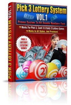 Pick 3 Lottery System Volume 1 (Proven System to Hit Double Numbers Fast) by Phillip Maxwell, $9.99 http://www.amazon.com/dp/B007UD95BU/ref=cm_sw_r_pi_dp_IbiPpb0PBNZMA