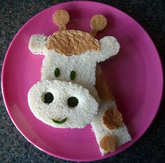 sandwich divertido para niños: jirafa #Kids fun food