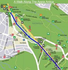 Walk Map Of Appian Way