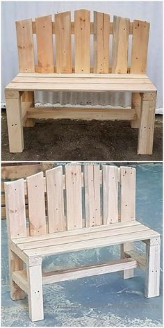 Intelligible DIY Wooden Pallet Recycling Ideas - Wooden Pallet Ideas - Arranged with the dismantle effect of the pallet plank stacking, here the wood pallet has been cust - Pallet Couch Outdoor, Diy Pallet Couch, Diy Outdoor Furniture, Diy Pallet Furniture, Furniture Projects, Diy Projects, Furniture Removal, Recycled Furniture, Furniture Plans