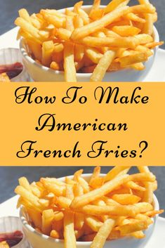 How To Make American French Fries? Deep Fried French Fries, Cooking French Fries, Air Fryer French Fries, French Fries Recipe, Homemade Fries, Homemade French Fries, How To Make Fries, Deep Fryer Recipes, Mcdonalds Fries