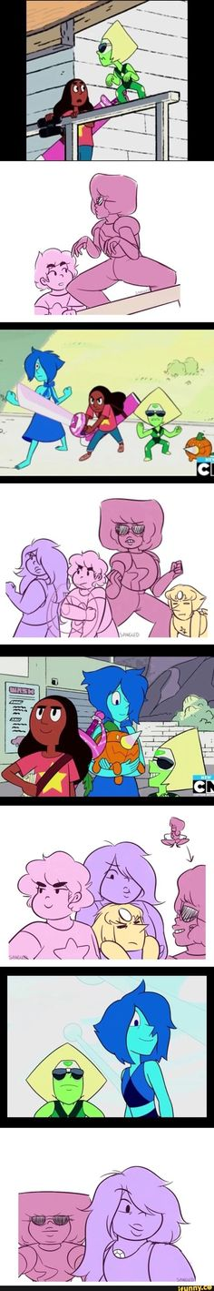 #stevenuniverse///The New Crystal Gems redraws