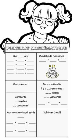 Portrait mathématique - good for the start of the year