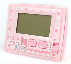 5f32f65b0a CutieShop  My melody digital electric wave alarm clock strawberry ☆ Sanrio  cute interior series black cat DM service impossibility - Purchase now to  ...