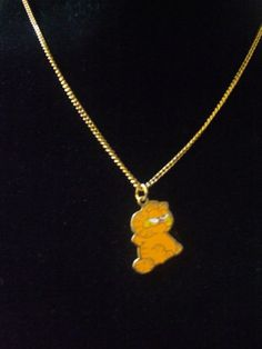 VINTAGE CUTE GARFIELD THE CAT NECKLACE