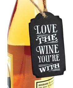 Chalkboard Wine Tag