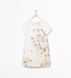 BUTTERFLY PRINT DRESS-Dresses-Girl (3-14 years)-KIDS | ZARA United States