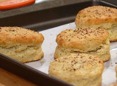 Bobby Flay's Black Pepper Biscuits - serve with Bobby Flay's Buttermilk Biscuits & Sausage Gravy recipe