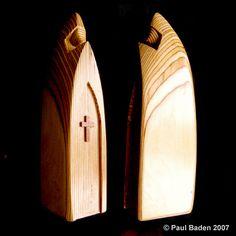 Wood sculpture Prayer by Paul Baden