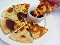 Peanut Butter Quesadillas with Grape Jelly Dipping Sauce { Celebrate National Peanut Butter and Jelly Day on April 2 }