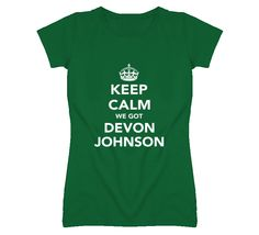 Keep Calm Devon Johnson Marshall Football Fan Ladies Funny T Shirt