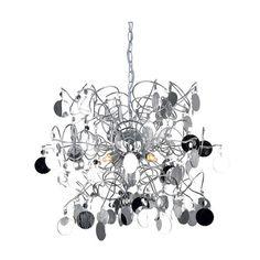Kourtakis Lighting - Πολύφωτο κρεμαστό με ιδιαίτερο #μοντερνο #design. Έχει μεταλλικό σκελετό σε χρώμιο και ακρυλικά διακοσμητικά που διατίθενται σε πολλά χρώματα όπως χρώμιο, λευκό, φιμέ και κεχριμπάρι για να ταιριάξει απόλυτα σε οποιονδήποτε χώρο. Για περισσότερη οικονομία στην κατανάλωση ενέργειας επιλέξτε λαμπτήρες #LED: http://kourtakis-lighting.gr/37-lamptires-led-g9