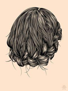 Hair study by Gerrel Saunders, via Behance