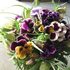 Flower arrangement.pansy. Alley_kotani