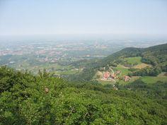 Schwarzwald - Sasbachwalden Blick vom Brigittenschloß aufs Rheintal