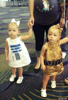 R2-D2 and C-3PO my children. Haha