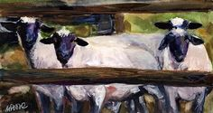 Split Rail Painting by Molly Poole