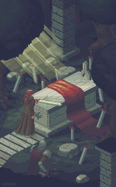 pixel art :: kirokaze :: old :: wind :: tomb :: gif (gif animation, animated pictures) Pixel Art Gif, Pixel Art Games, Arte 8 Bits, Pix Art, Pixel Animation, 8 Bit Art, Gif Animé, Funny Art, Game Art