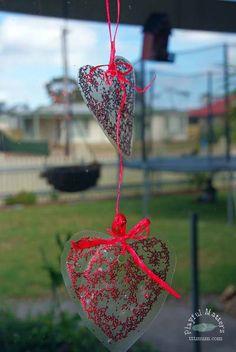 Gelatin Heart Valentine Sun Catcher