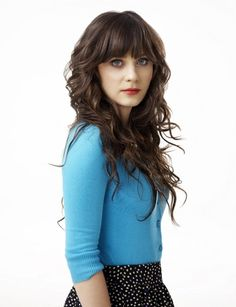 I always love her fitted cardigans on New Girl. Dotted skirt? I like that too