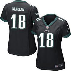 Womens Nike Philadelphia Eagles #18 Jeremy Maclin Game Alternate Jersey $69.99
