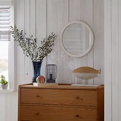 Buy John Lewis Coastal Porthole Mirror, White, 41cm Online at johnlewis.com