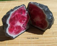 GEODE SOAP Whole Geode Soap Rock Crystal by CedarCreekSoaps1, $14.75