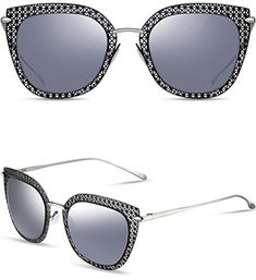418b7d63648 ATTCL WomensHot Vintage Fullrim Metal Frame Fashion Wayfarer Style  Sunglasses for Women 8007BlackSilver -- Check out this great product.