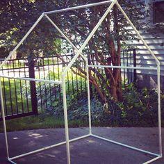 A Jennuine Life: PVC Playhouse & Sunshade: PVC Frame