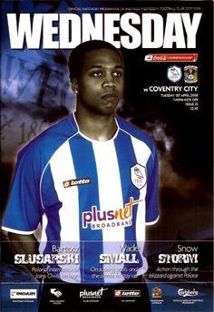 1 April 2008 v Sheffield Wednesday Drew Coventry City Fc, Sheffield Wednesday, Football Program, Owls, Baseball Cards, Retro, Owl, Retro Illustration, Tawny Owl