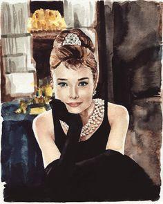 Audrey Hepburn Breakfast at Tiffanys  by LauraLaurentSalon on Etsy, $75.00
