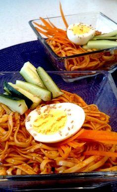 Korean Cold Spicy Noodles (Bibim Naengmyeon)