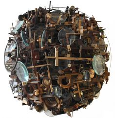 Find Semisphere by Lesley Hilling online. Buy art online with confidence with free art advisory. Found Object Art, Art Object, Contemporary Sculpture, Contemporary Art, Rise Art, Collage, Art Brut, Junk Art, Assemblage Art
