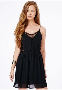 Louise Lace Skater Cami Slip Dress - Dresses - Cami Dresses - Missguided