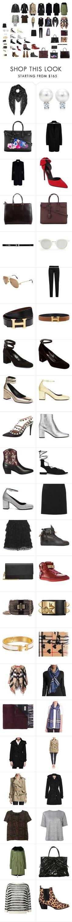 """Wardrobe"" by ivymind on Polyvore featuring Mode, Yves Saint Laurent, STELLA McCARTNEY, Anya Hindmarch, Cartier, Hermès, Valentino, Isabel Marant, BUSCEMI und Alexander McQueen"