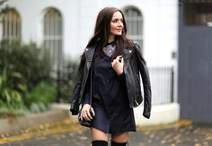 Cos Navy Shirt Dress - http://rstyle.me/n/mptpmxmd6 | The Stylemma