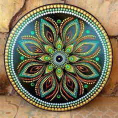 Mandala Canvas, Mandala Artwork, Mandala Painting, Mandala Drawing, Canvas Painting Tutorials, Dot Art Painting, Acrylic Painting Canvas, Stone Painting, Circle Canvas