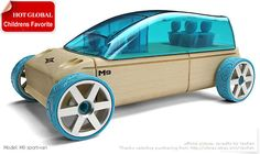 Automoblox M9 Sport-van Childrens Model Car Toys Wooden