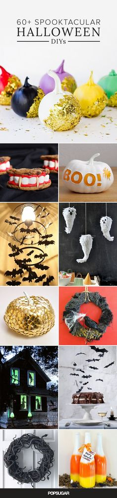 Get ready to set the scene for your Halloween festivities with DIYs that will have your guests screaming . . . in delight. Repurpose items or hit the dollar store for materials to turn into stunning home decor or to give as fun seasonal gifts. You'll be amazed by how easily you can create something creepy and extra bootiful!