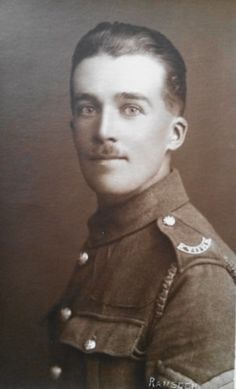 WW-I-British-Real-Photo-Postcard-A-Sergeant-in-The-East-Yorkshire-Regiment