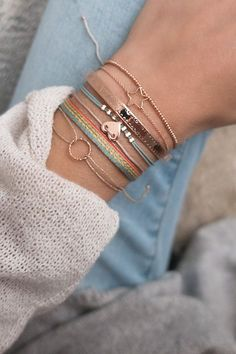Make an incredible statement and create your own UNIQUE combiNATION ❤ # Bracelet Bracelets Fins, Cute Bracelets, Ankle Bracelets, Jewelry Bracelets, Stack Bracelets, Handmade Bracelets, Cute Jewelry, Jewelry Accessories, Fashion Accessories
