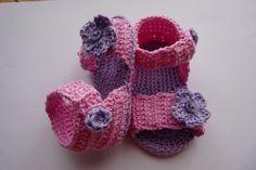 Sandalia flor-botón morada, Niños y bebé, Patucos