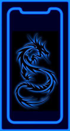 Wallpaper iPhone X Blue Dragon Iphone wallpaper Black wallpaper iphone Iphone 5s wallpaper