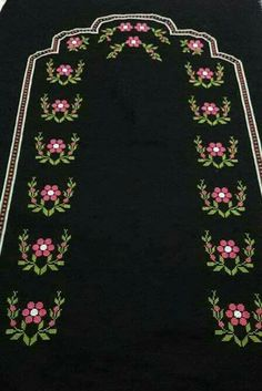 This Pin was discovered by Lal Cross Stitch Borders, Cross Stitch Flowers, Cross Stitch Patterns, Prayer Rug, Bargello, Filet Crochet, Christmas Cross, Handicraft, Needlework