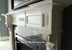 wood fireplace mantles with corbels - Google Search