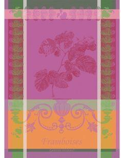 Garnier-Thiebaut Framboises Raspberries Towel Kitchen Towel Stunning Vibrant One of my favorite for the summer